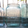Three Samson Battery Jars in 3 sizes