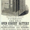 Law Battery Jar advert from 1883
