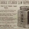 Double Cylinder Law Battery 1890