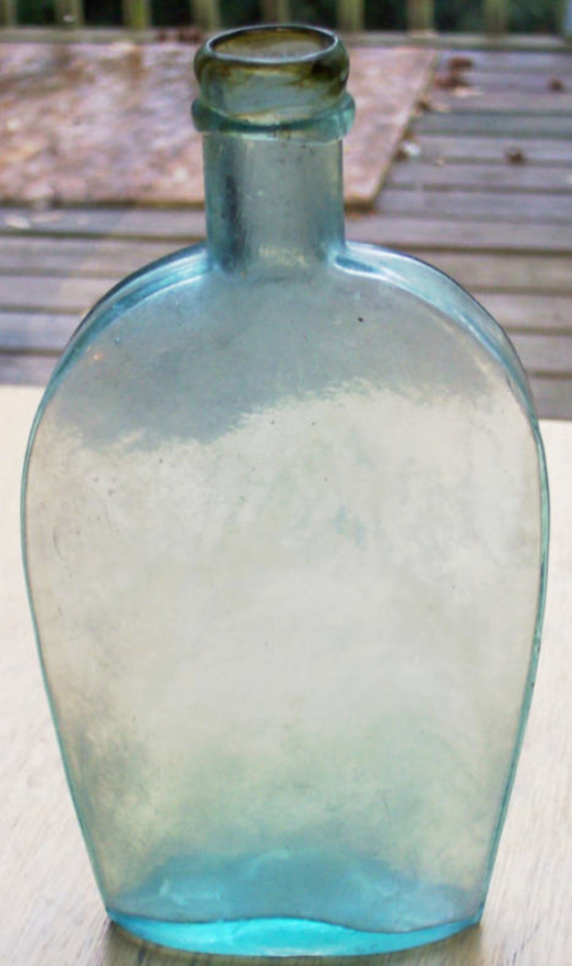 Strap Sided Flask with FA Co embossing on base