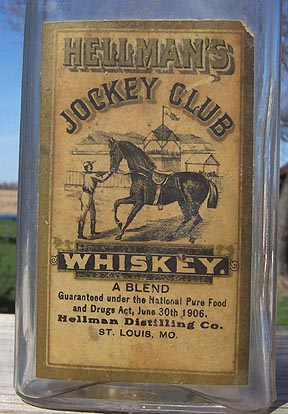 Whiskey Bottle with label