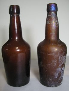 Two malt extract bottles
